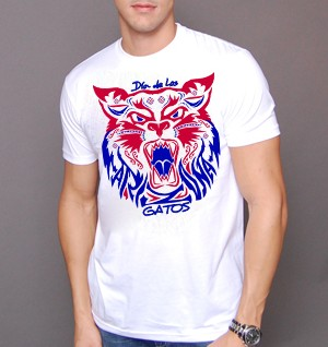Mens dia de los gatos shirt